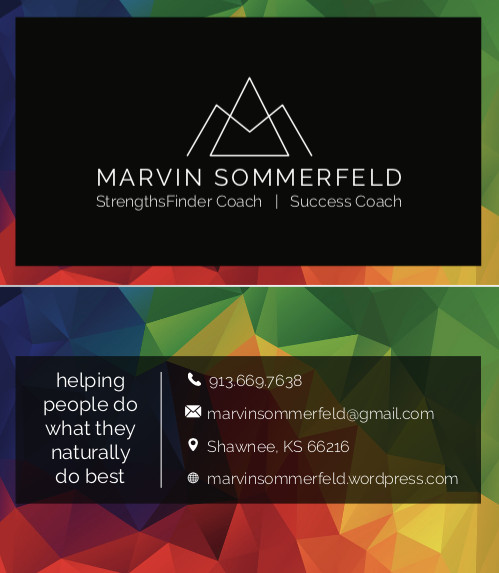 Strengths Finder Business Card