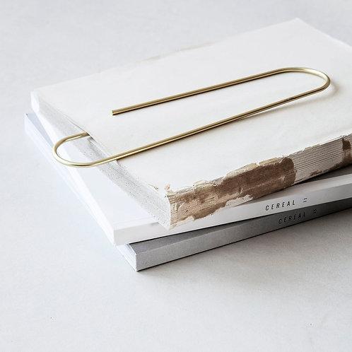 Paper Clip, Mega, Brass