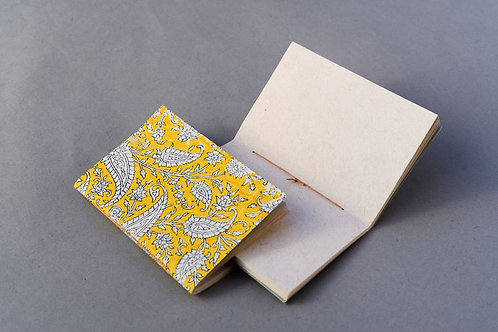 Hand Made Paper Notebook - Paisley Zest