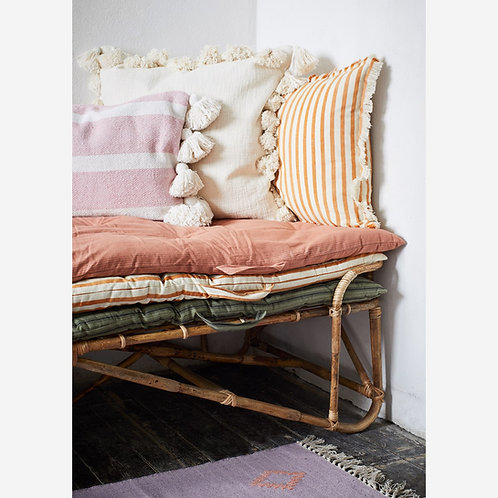 Striped Mattress - Rose and Grey