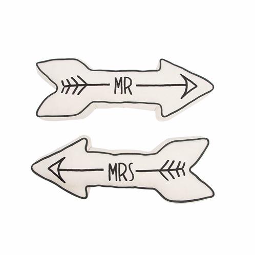 Mr and Mrs Arrow Cushions