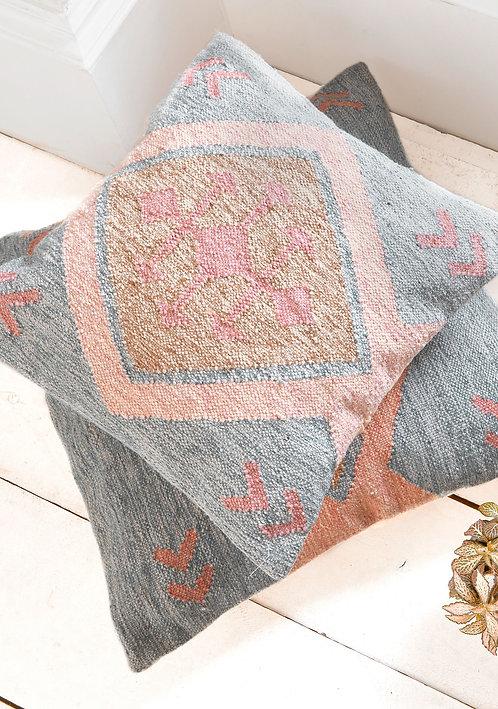 Miramar Recycled Indian Kilim Large Cushion