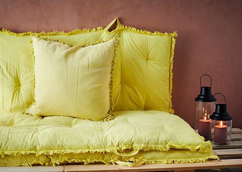 Lemon Cushion with Tassels