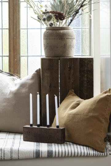 Wooden Block Candle Holder