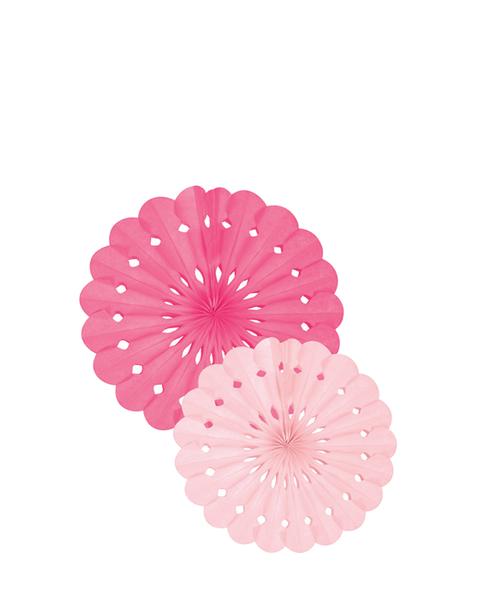 Tissue Paper Fan Set - Pink
