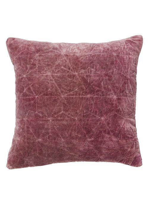 Stonewash Quilted Velvet Cushion