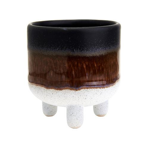 Stoneware Leggy Planter - Black
