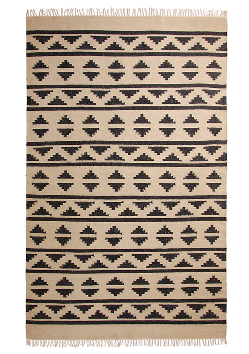 Patterned Recycled Yarn Rug - 150 x 240cm