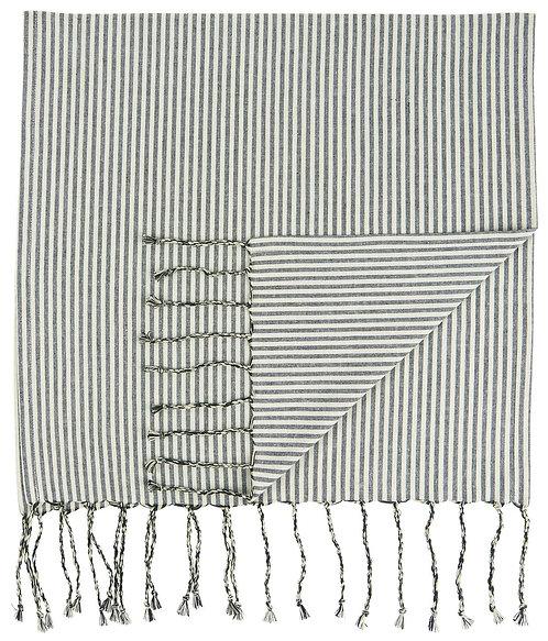 Hammam Towel - Black Stripes - Large