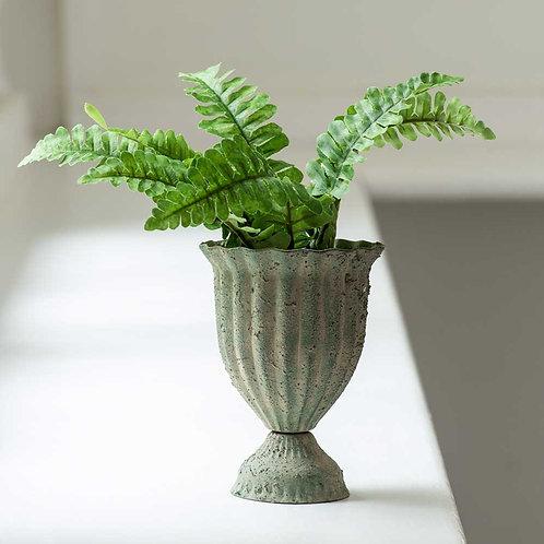 Ribbed Posy Pot - Antique Green
