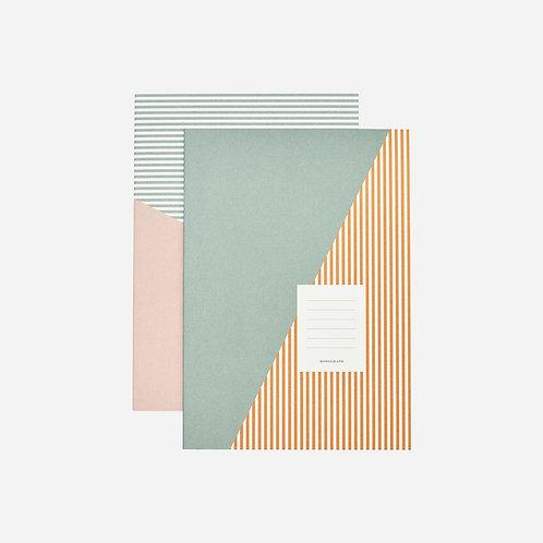 Notebook Set, Stripes