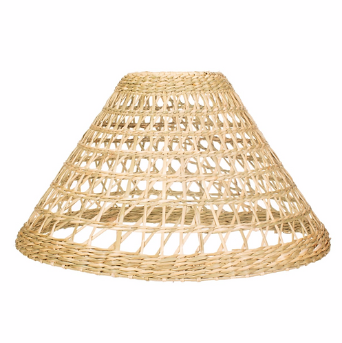 Conical Seagrass Lampshade