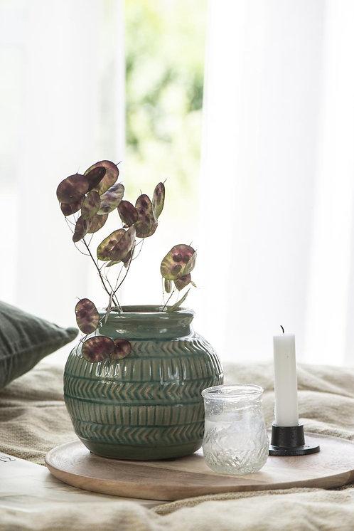 Green Patterned Vase