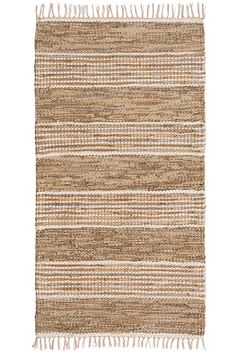 Taj Leather & Jute Rug