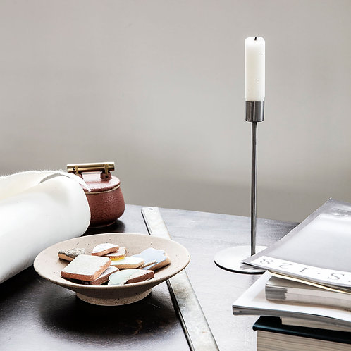 Tall Candle Stand - Silver