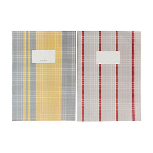 Note book Set, Grey/Yellow, Large