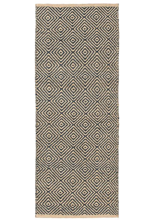 Diamond Handloom Jute Rug - 60x150cm