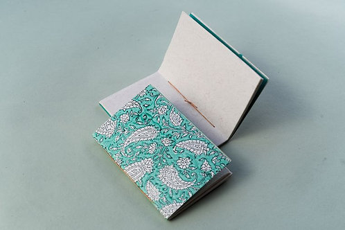 Hand Made Paper Notebook - Paisley Breeze
