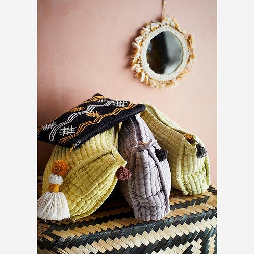 Mustard Cotton Fringe Mirror