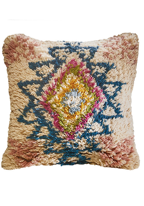 Mehar Geometric Pattern Wool Cushion