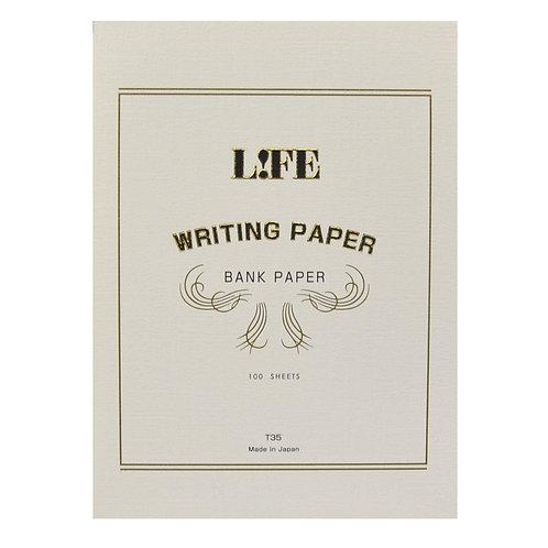 Life 'Bank' Writing Paper // 100 Sheets