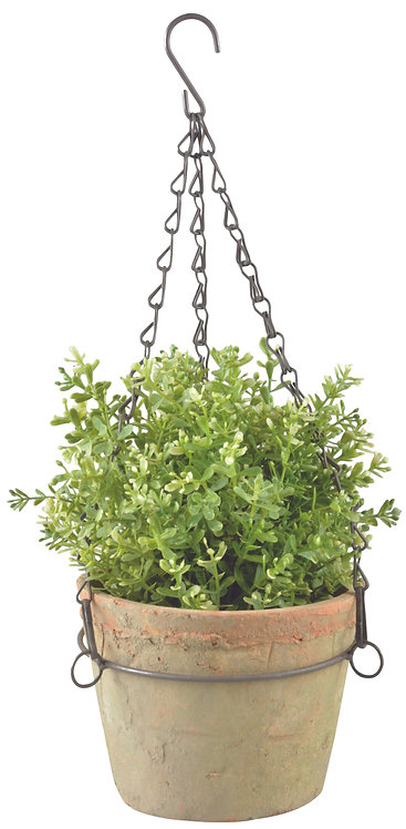 Terracotta Pot With Chain
