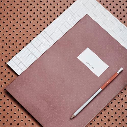 Note book Set, Paprika/Cream, Large