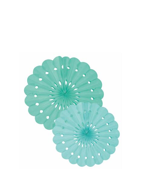 Tissue Paper Fan Set - Green