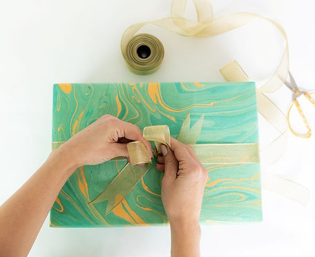 Hand Made Paper - Teal
