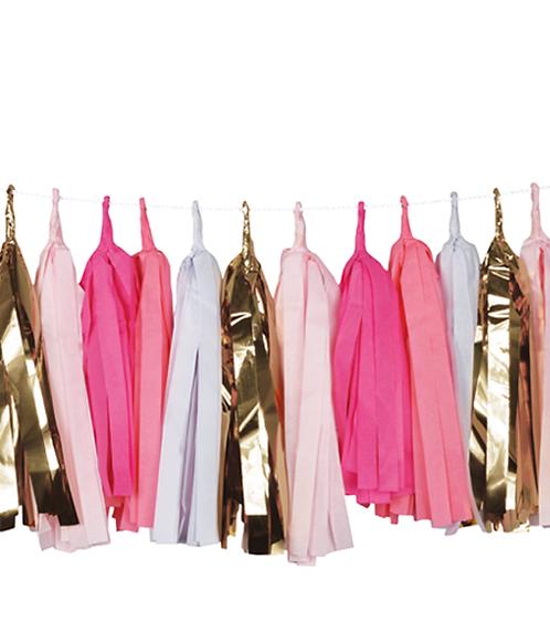 Pink Gold Tassel