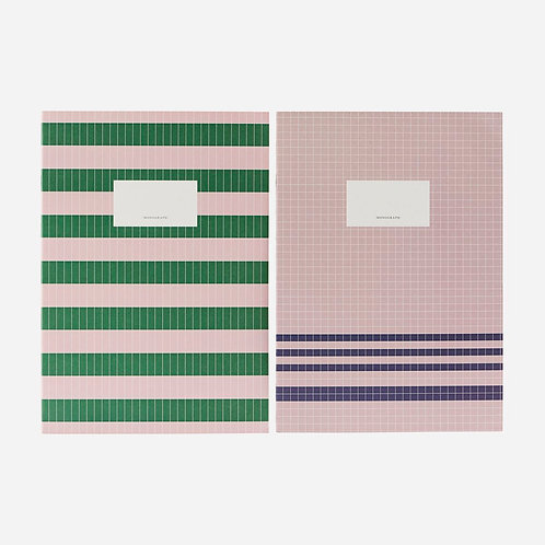 Note book Set, Nude/Green