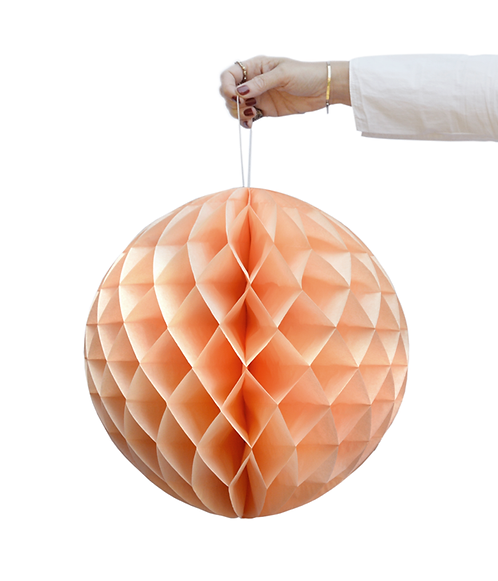 Peach & Ivory Honeycombs