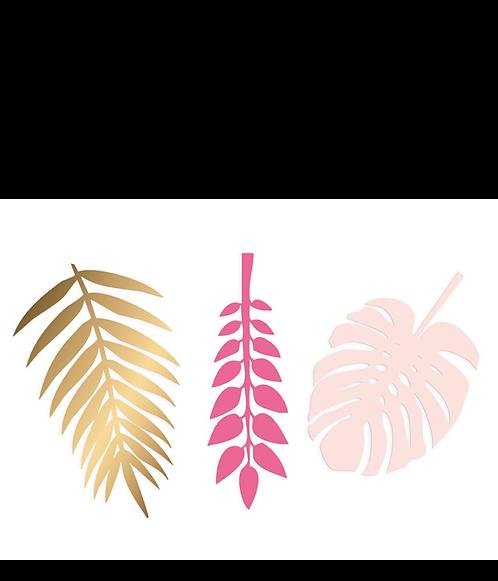 Pink Deco Leaves