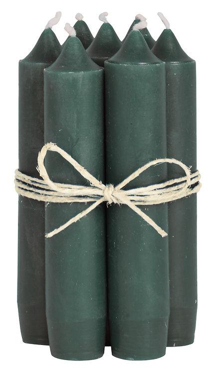 Short Dinner Candles - 7 - Dark Green