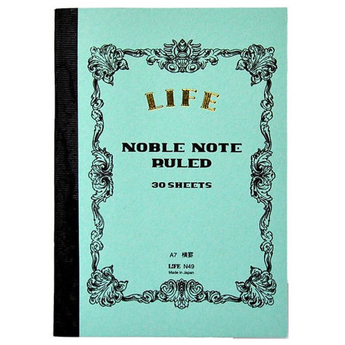 Life Noble Notebook / Green / A7