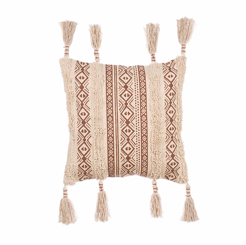 Nomad Printed Tassel Cushion