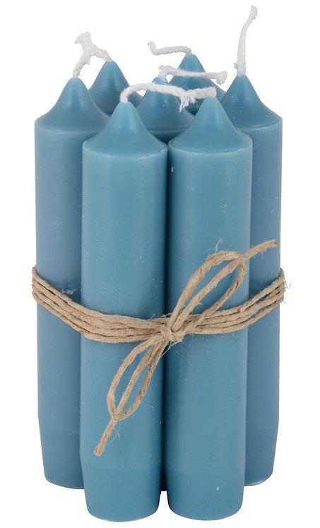 Short Dinner Candles - 7 - Dark Blue