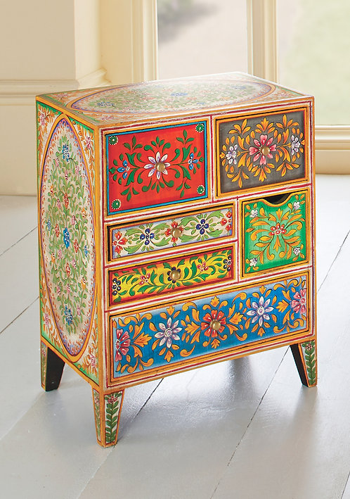 Hand Painted 6-Drawer Cabinet
