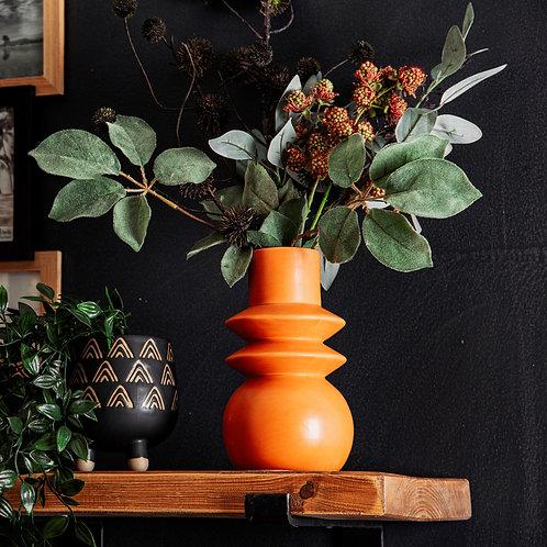 Terracotta tribal vase