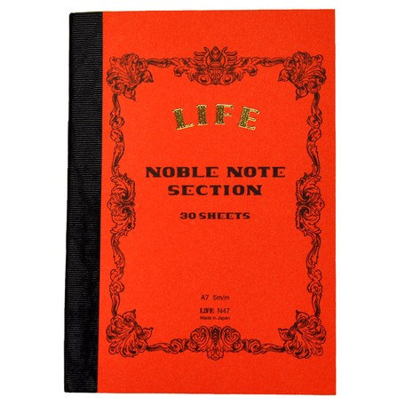 Life Noble Notebook / Red / A7