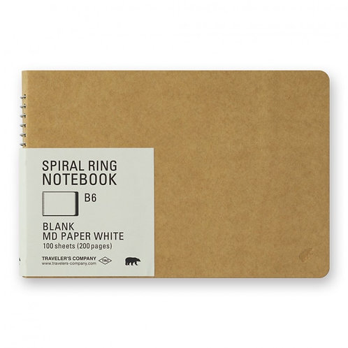 Traveler's Company Spiral Ring Notebook B6 - MD White