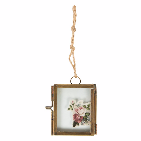 Mini Glass Hanging Photo Frame