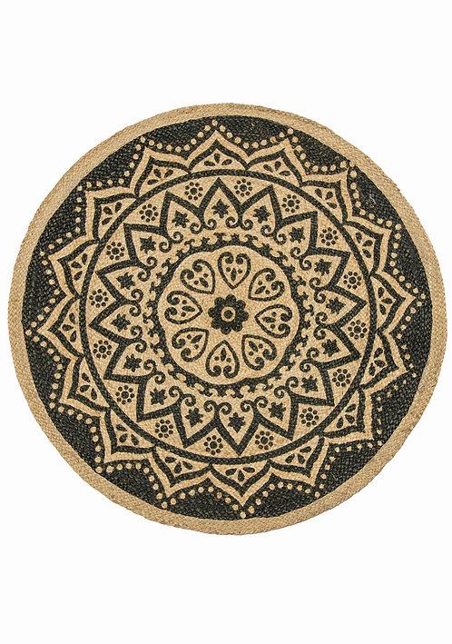 Mandala Jute & Natural Round Rug