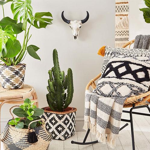 Scandi Monochrome Bamboo Basket