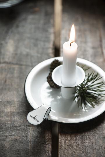 Enamel Candle Holder