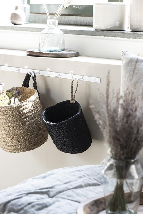 Basket With Hanger - Black