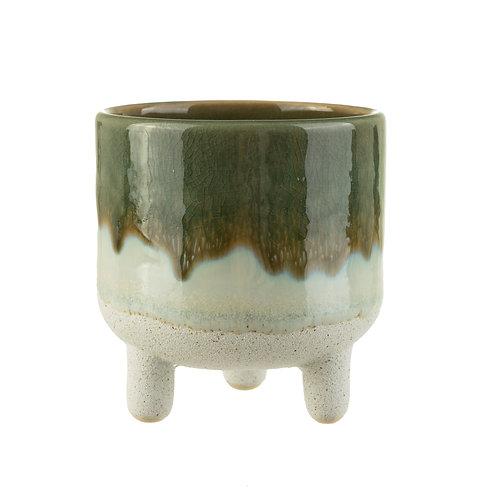 Stoneware Leggy Planter