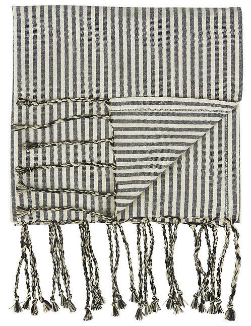 Hammam Towel - Black Stripes - Small