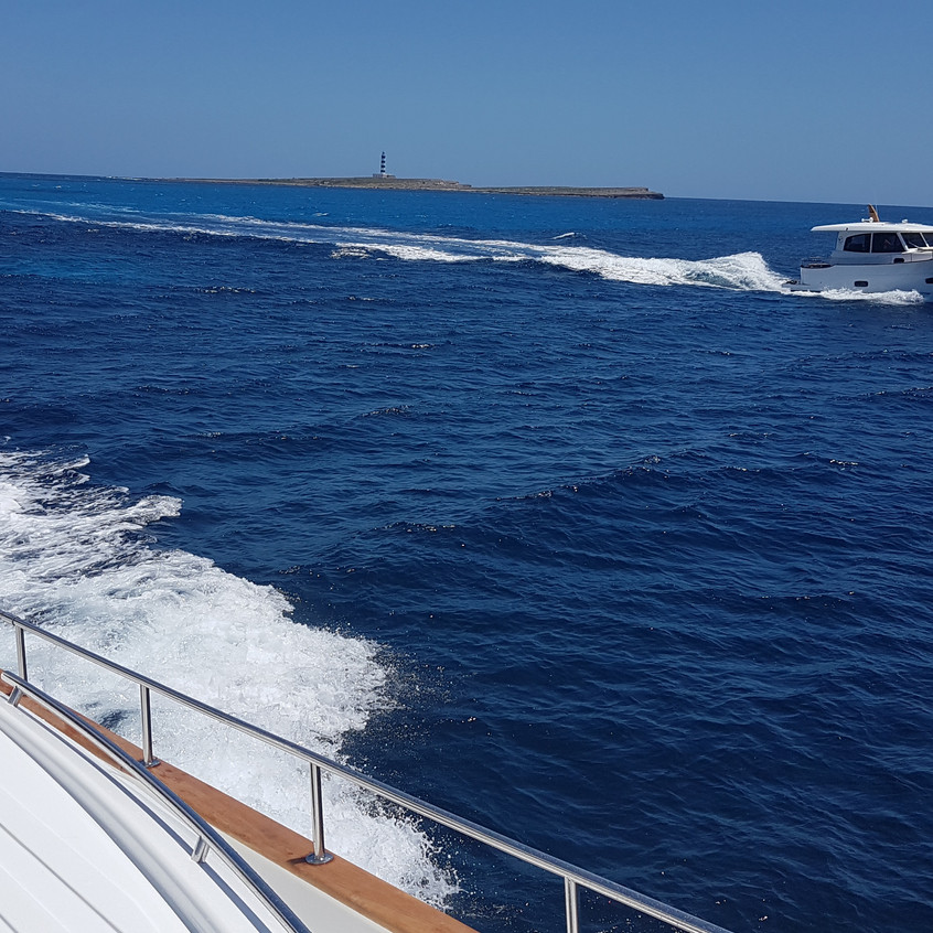 The 34 at cruising speed