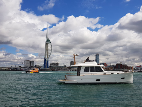Great day out testing the Sasga Menorquin 42 Flybridge with Motorboat & Yachting Magazine
